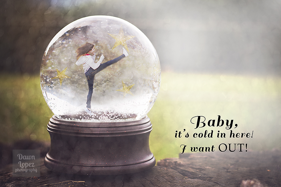 baby it s cold in here snowglobe template humor dawn lopez