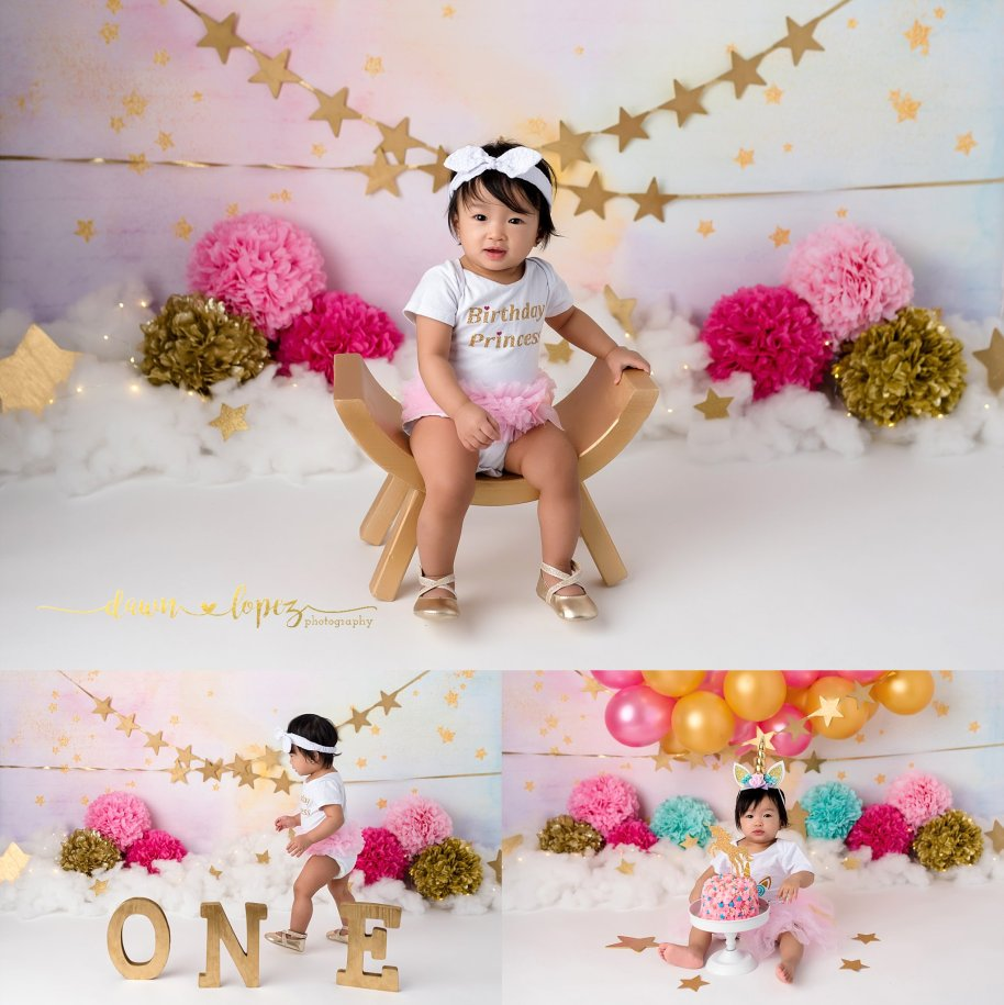Admirable 1 Year Birthday Princess Cake Smash Session Watauga Texas Baby Personalised Birthday Cards Veneteletsinfo
